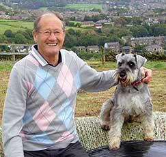 Max the Schnauzer with elderly man