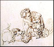 A Schnauzer in a Rembrandt sketch?