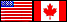 USA and Canada flags for Natural Dog Remedies